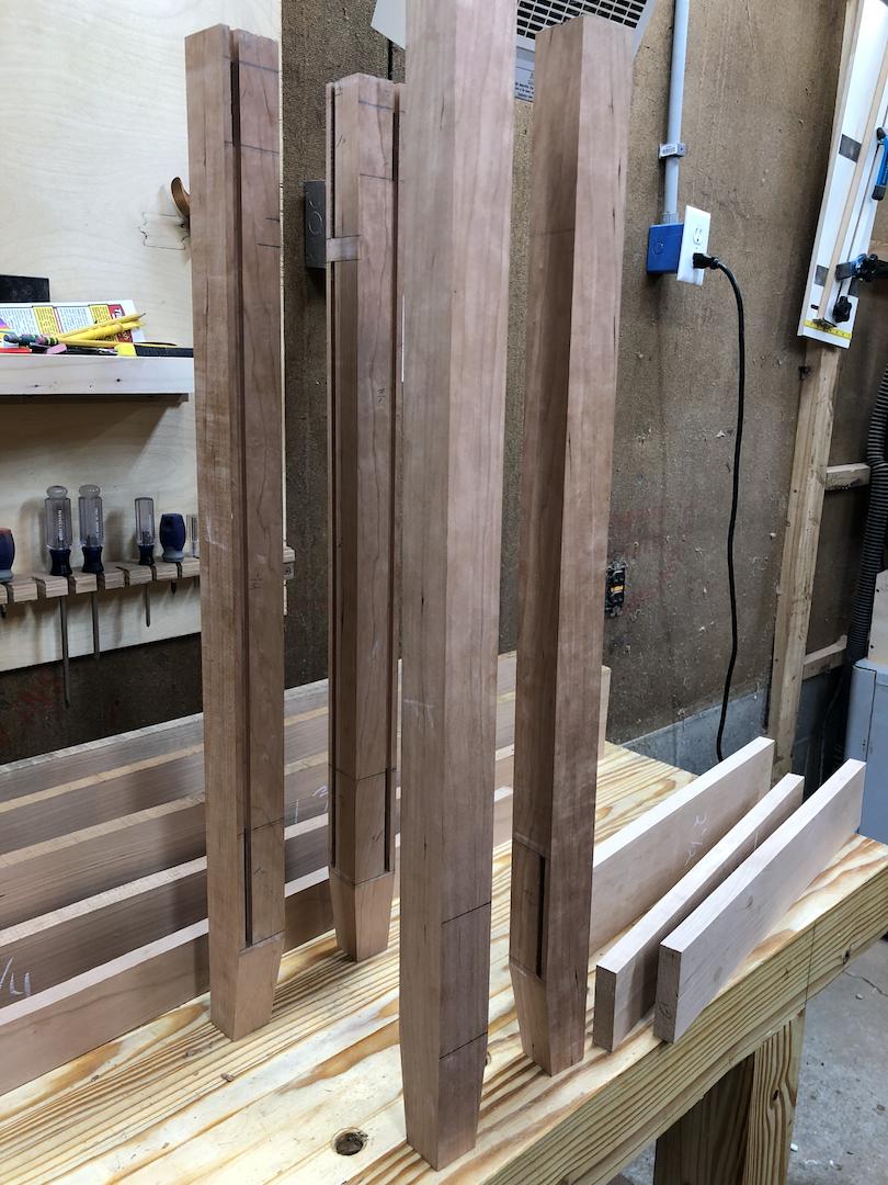 Shop Update: Sideboard rails, back stiles, bottom frame