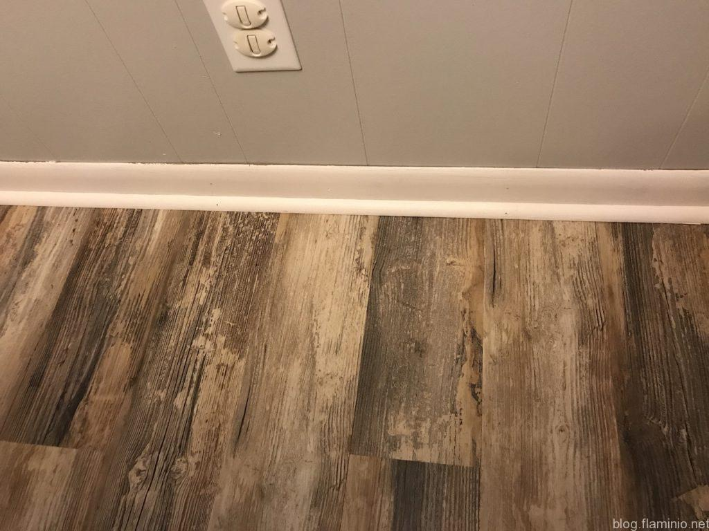 New flooring, trim, and walls