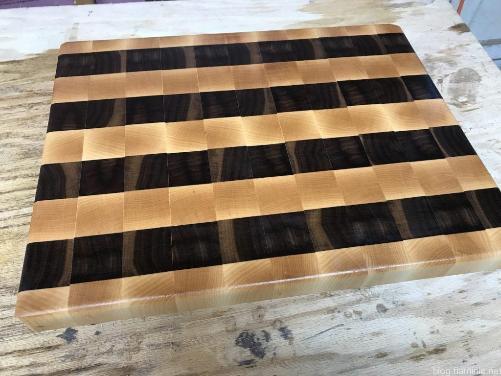 Cutting Board #4 - Maple and Walnut Stripes
