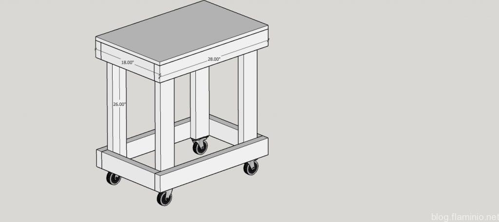 Sanding Cart Sketchup
